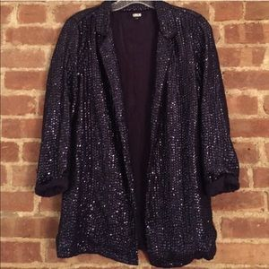 ASOS blue sequin blazer